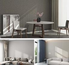 JCC天洋墙布 现代简约客厅卧室 素色防潮