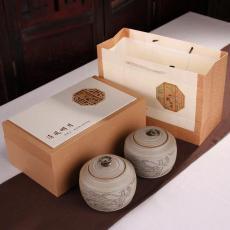 重庆茶具礼品盒定制 陶瓷茶罐硬纸盒定做