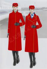 空姐毛呢冬季大衣 南航空姐同款冬季