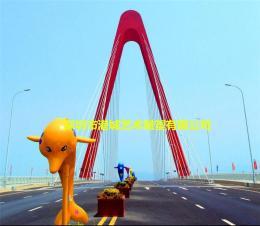 路口海洋动物制作彩绘玻璃钢卡通海豚雕像