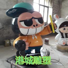 可爱萌玻璃钢大猩猩卡通雕塑吉祥物公仔摆件