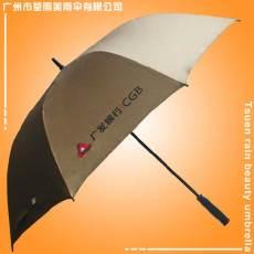 广州市荃雨美雨伞厂生产广发银行黑胶广告