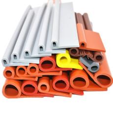 供應耐高溫9字硅膠密封條P型蒸箱橡膠密封條