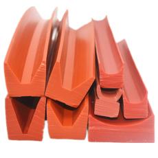 供应V型硅橡胶密封条耐高温V型硅胶托块