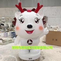美陈装饰IP形象吉祥物玻璃钢卡通小鹿雕塑