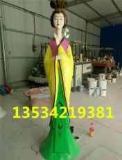 中国风古代美女玻璃钢旗袍人物雕像报价