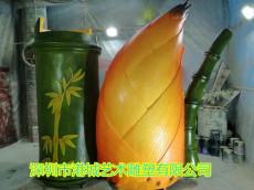 酒厂宣传酒装饰玻璃钢竹筒酒雕塑定制价格