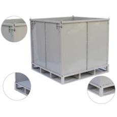 厂家直销进出口橡胶运输箱钢制料箱铁筐