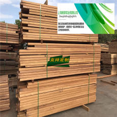 非洲菠萝格加工木栈道菠萝格防腐木板材工厂