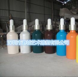 商业营销玻璃钢沐浴露瓶雕塑展览品道具模型