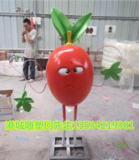 玻璃钢胡萝卜卡通雕塑菜头公仔吉祥物摆件