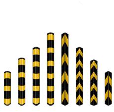 橡胶护角厂家1.2米1.5米反光条防撞条橡胶条