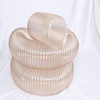 山西pu工业吸尘软管抗撕裂钢丝伸缩管耐磨聚