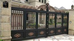 惠东哪里有别墅庭院大门电动铝艺工业门公司