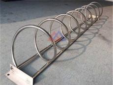 螺旋自行车停摆架 不锈钢非机动车停车架屹岚加工