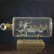 创意手工艺玻璃白酒瓶私人订制直管形酒瓶