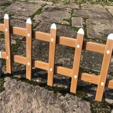 仿木色草坪欄桿圍欄護欄