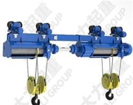 訂做雙鉤雙吊點電動葫蘆|同升同降鋼絲繩電動葫蘆