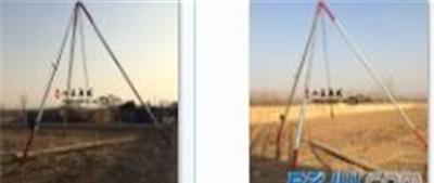 手动 铝合金立杆机 15米分体三角拔杆机