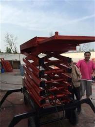钟祥液压升降机 移动式升降平台 台面伸缩式高空作业平台