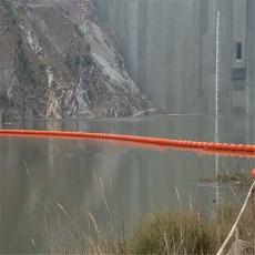 河道攔截水草浮體浮筒式攔污排施工