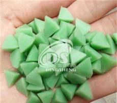 三角樹脂研磨石 綠色塑膠研磨石 研磨拋光石