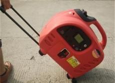 翰絲品牌3KW汽油靜音數碼變頻發電機紅色手拉桿式外觀漂亮好看
