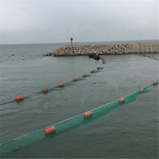 河道垃圾攔污網浮子200米水上攔污排施工
