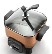 韓式多功能家用電火鍋廠家 優質供應鋁合金無油煙電熱鍋價格優惠