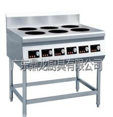 供應鼎龍380V煲仔飯6頭電磁爐