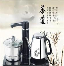 廠家批發超薄不銹鋼自動上水電熱水壺自動上水壺電茶爐套裝茶具