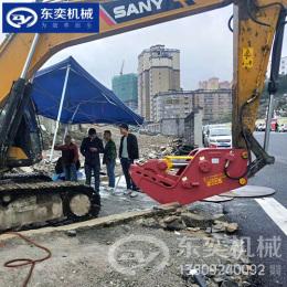 房屋拆迁钳 混凝土粉碎挖掘机液压钢牙钳