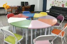 团体活动室设备-团体活动8色桌椅