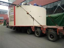 獅山鎮發貨到布拖縣的大件設備運輸車隊