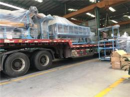 獅山鎮發貨到開化縣的大件設備運輸車隊