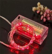 廠家供應一朵花科技 2米20燈 2AA常規電池盒 LED圣誕裝飾銅線燈串