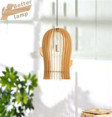 供應酒店非標工程燈/高檔時尚原木自然吊燈/現代簡約木藝燈