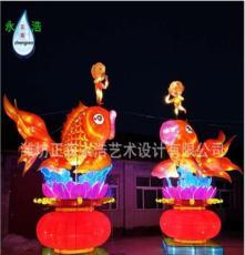 大型彩灯花灯 春节元宵节猪年新款景观亮化户外灯展灯会 年年有鱼