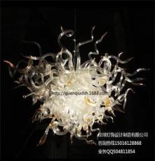 供應廠家定做玻璃藝術吊燈咖啡廳吧臺玻璃裝飾燈飾