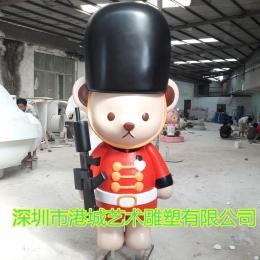 大型玻璃鋼卡通泰迪熊雕塑美陳展覽公仔擺件