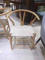 廣州肯麥餐飲家具鐵質加編織Y餐椅