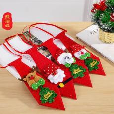 圣诞节领带领结 卡通雪人圣诞老人