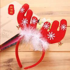 欧法娅圣诞节日用品红色圣诞头饰头箍发箍