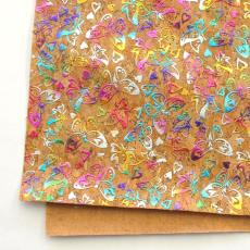 工厂直销 超宽无缝链接彩色烫金软木墙纸