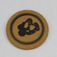 济南软木厂 原木色软木杯垫彩色印刷软木杯