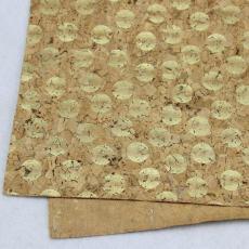 欧盟环保 竹节纹软木革 碳化软木革现货充足
