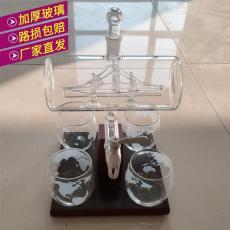工艺酒瓶河北厂家帆船带杯子的醒酒器