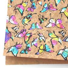南京軟木卷材 箱包專用彩色燙金軟木卷材