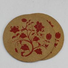 欧盟环保 时尚隔热软木餐垫 可定制丝印烫金