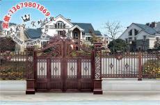 中式别墅大门农村院子大门图片